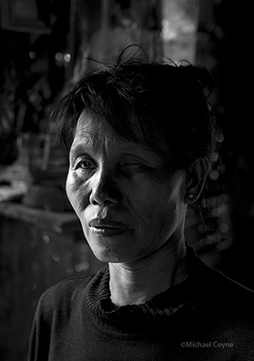 Blind woman living with AIDS virus - Myanmar : michael coyne documentary photographer and photojournalist