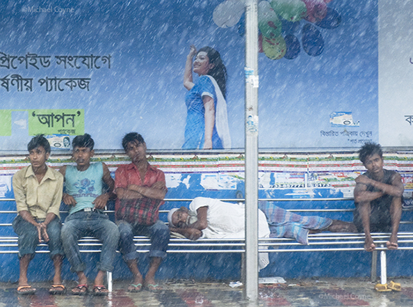Dhaka in the rainy season - Bangladesh : michael coyne documentary photographer and photojournalist
