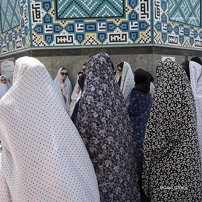 Women at a mosque in Tehran - Iran : michael coyne documentary photographer and photojournalist