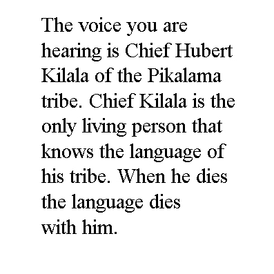 michael coyne documentary photographer and photojournalist: Voice of Chief Hubert Kilala - Papua New Guinea