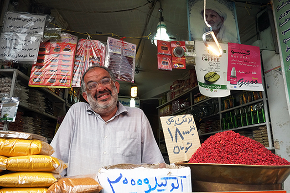 michael coyne documentary photographer and photojournalist: Vendor at the Grand Bazaar, Tehran - Iran