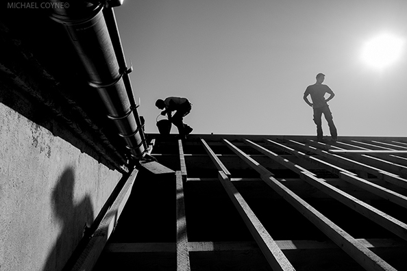 Builders - Seurre, France  : michael coyne documentary photographer and photojournalist