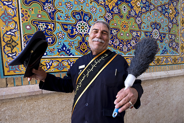Religious guard - Iran : michael coyne documentary photographer and photojournalist